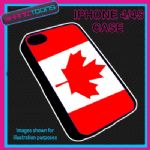 FITS IPHONE 4 / 4S PHONE CANADA FLAG EMBLEM PLASTIC COVER
